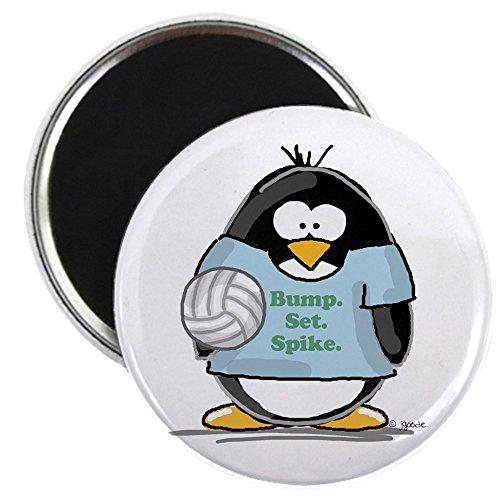 CafePress - volleyball bump set spike Pen Magnet - 2.25