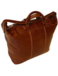 Floto Luggage Piana Leather Tote, Vecchio Brown, Large