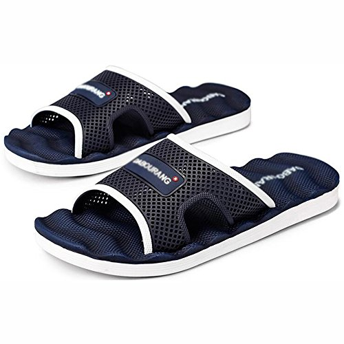 XIAOLIN Zapatillas de los hombres del verano Inicio sandalias de los hombres Sandalias de baño de la personalidad coreana Baño antideslizante (tamaño opcional) ( Color : 03 , Tamaño : EU43/UK9/CN44 ) 02
