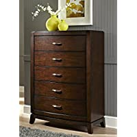 Liberty Furniture 505-BR40 Avalon 5-Drawer Chest, 36 x 18 x 50, Dark Truffle