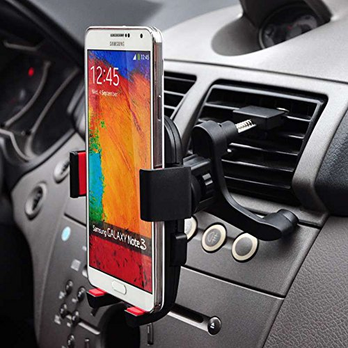 Coocolor Universal Car Air Vent Mount Holder / Cradle - Compatible with All Smartphones, including IPhone 4, 4S, 5, 5S, 5C, 6, 6 Plus - Samsung Galaxy S3, S4, S5 - Galaxy Note 2, 3 - LG, G2 - Motorola Moto X Droid HTC One, Nexus 5 (Car Vent Mount)
