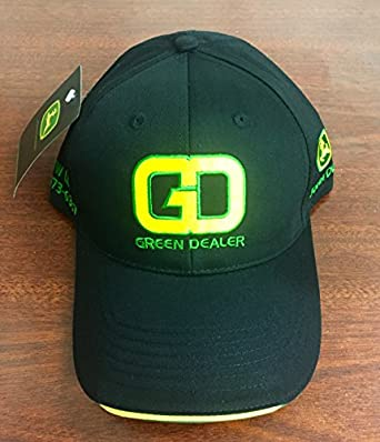 Amazon.com  John Deere Green Dealer Hat with GD Logo and Phone ... 7c506ab8592