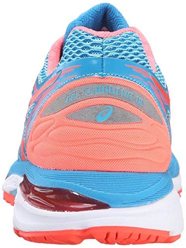 Asics Gel-Cumulus 18Zapatilla de Running de la mujer Aquarium/Flash Coral/Blue Jewel