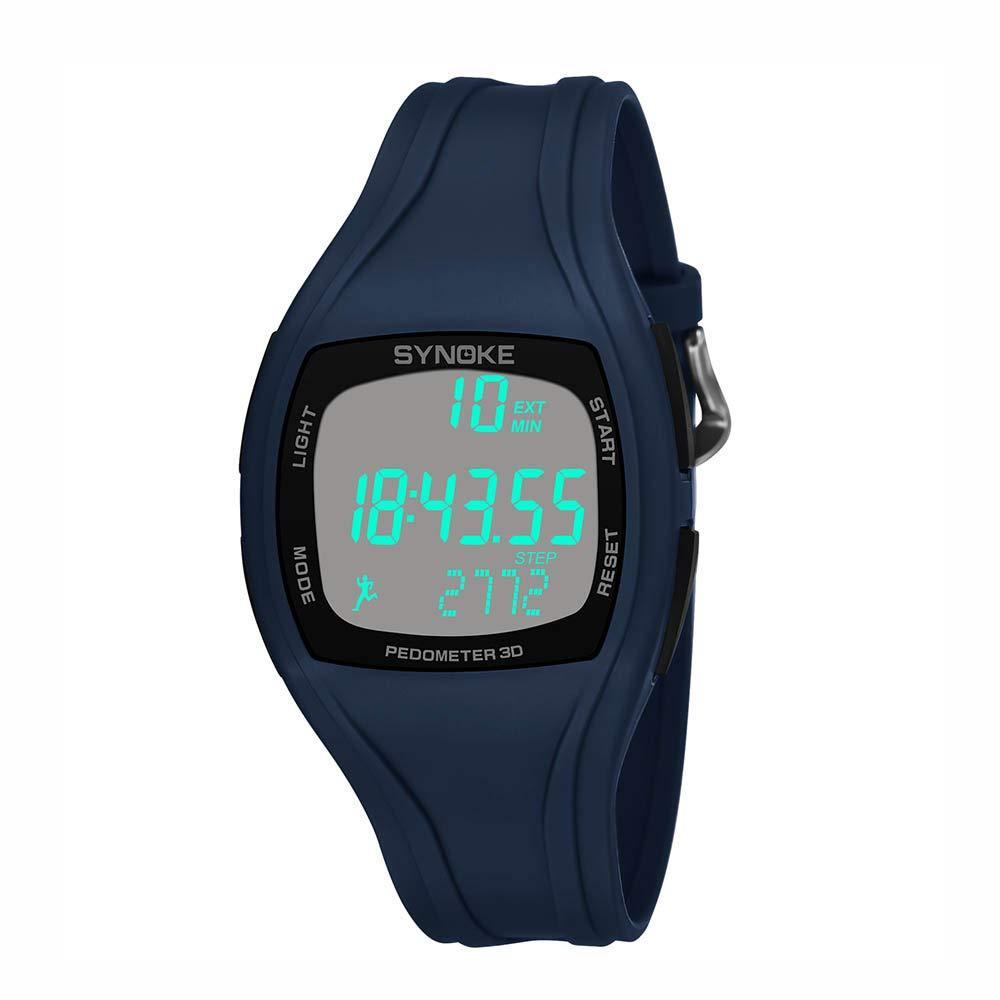 BBestseller Reloje Hombres, Relojes Deportivo Infantil electrónico Multifuncional Impermeable 50m Inteligente Podómetro Pulsera (Azul): Amazon.es: Relojes