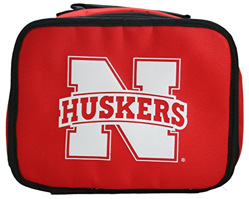 NCAA Nebraska Cornhuskers Lunchbreak Insulated Lunchbox, Red