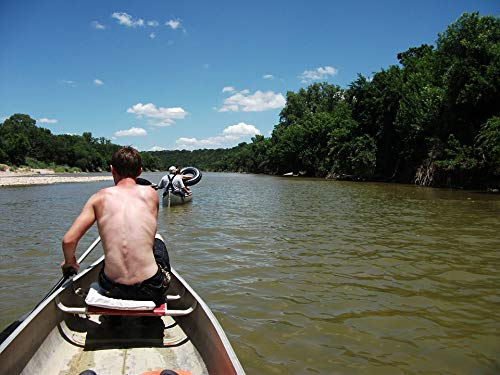 Home Comforts Peel-n-Stick Poster of Outdoors Activities Texas Canoeing Brazos River Vivid Imagery Poster 24 x 16 Adhesive Sticker Poster Print
