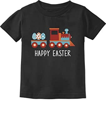 Amazon easter egg hunt kids gift happy easter train toddler easter egg hunt kids gift happy easter train toddlerinfant kids t shirt 6m negle Gallery