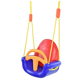 3 In 1 Infant To Toddler Swing Set Secure Detachable Outdoor Play Patio Garden