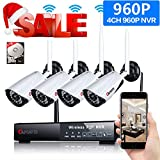 Wireless Security Camera, CANAVIS 4CH 960P HD CCTV WiFi Network Security Camera System Indoor Outdoor Wireless Live Video Recorder NVR Weatherproof Night Vision Cameras with 1TB Hard Disk