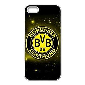 iPhone 5, 5S Phone Case White Borussia Dortmund BVB Bundesliga Football Club BVB Logo KG4517676