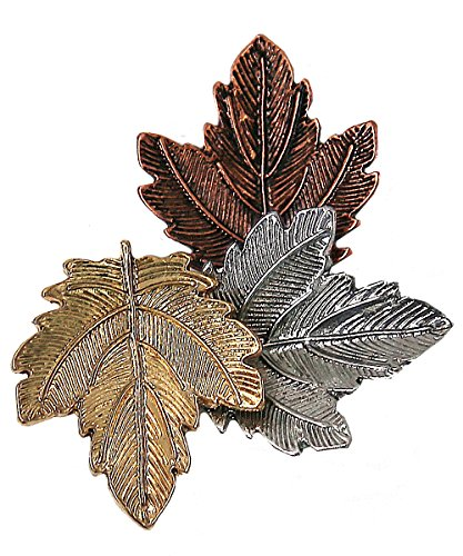 Westree Fashion Three Maple Leaf Retro Collar Pin Brooch Vintage Fashion Jewelry