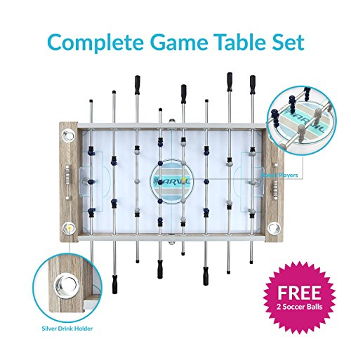 Harvil 56-Inch Beachcomber Indoor Foosball Table for Kids and Adults with Leg Levelers and Free Accessories