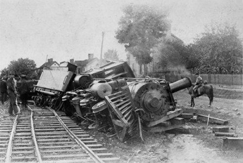 Vintage Stock Photography (Train Wreck Vintage Photo 8