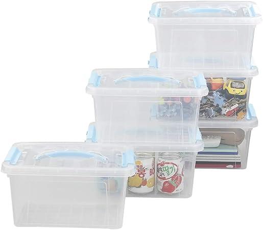 Fosly Caja de Almacenaje, Caja de OrdenacióN PláStico, Paquete de 6 Cajas: Amazon.es: Hogar