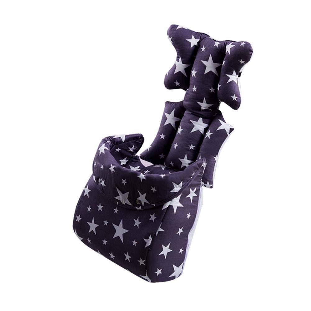 Poussette Coussin épais avec couverture de pied pour bébé, Motif d'étoiles Oreiller de soutien de tête et de corps pour siège de voiture et poussette Beatie