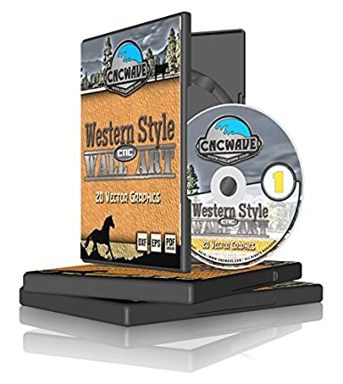 CNC Western Style Wall Art - Vector Clipart for CNC Plasma Cutters & CNC Router Tables