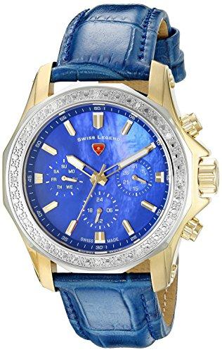 Swiss Legend Women's 16200SM-SG-03-BLS Islander Stainless Steel Watch with Blue Band
