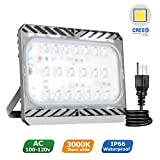 Cheap LED Flood Light Outdoor, STASUN 9000lm 100W LED Security Lights, 3000K Warm White, Built with CREE LED Chips, Waterproof, Great for Yard Garage Parking Lot