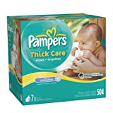 Pampers ThickCare Touch of Chamomile Wipes Refill, 7x Box 504 Count, Baby & Kids Zone