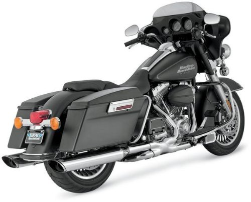 Vance & Hines Twin Slash Slip-On Mufflers - Oval Monsters 5 1/2in 16765 ()