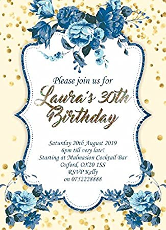10 x invitaciones para adultos fiesta de cumpleaños ...