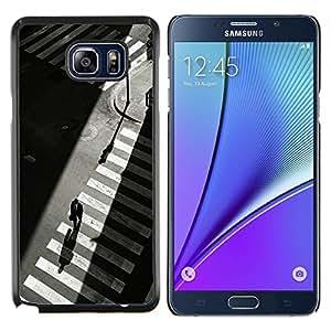 Eason Shop / Premium SLIM PC / Aliminium Casa Carcasa Funda Case Bandera Cover - Crosswalk Nyc semáforos Gris - For Samsung Galaxy Note 5