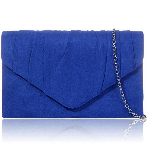 Xardi London - Clutch in finta pelle scamosciata Royal Blue
