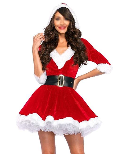 Vestite da Babbo Natale Donna Scollo A V Cosplay Costumi per Carnevale Feste  Rosso M  Amazon.it  Abbigliamento 11aa7be11d9