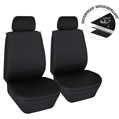 Elantrip Dual Waterproof Neoprene Front Seat Covers Car Bucket Seat Cover Universal Fit Airbag Compatible for Auto SUV Truck Van, Black 2 PC: Automotive