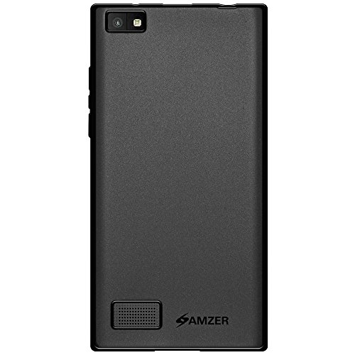 (Amzer Pudding TPU Skin Case Back Cover for BlackBerry Leap - Retail Packaging - Black)