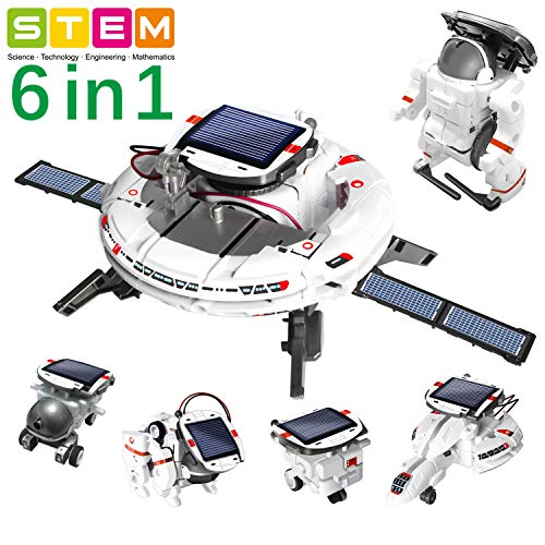 OASO STEM Toy Space Fleet Building Kits for Kids, DIY Educational Entertaining Solar Powered Rechargeable Space Building…