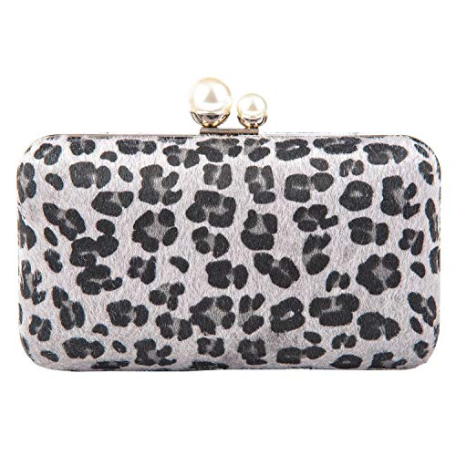 - Crossbody Clutch Evening Bag for Women Formal Classic Clutch Handbag Purse Totes Wedding Parites Prom Leopard (Grey Leopard)