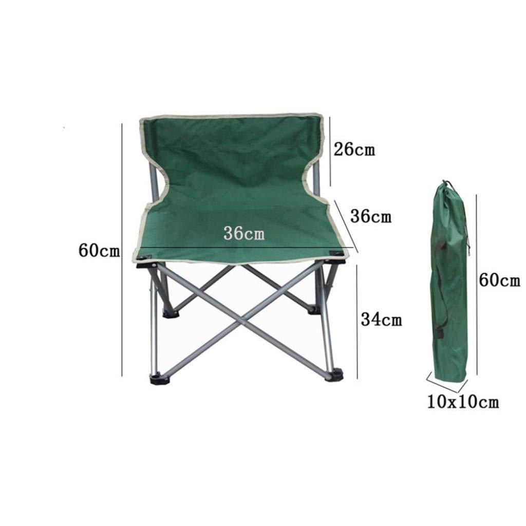 Amazon.com: NYDZDM Taburete plegable para campamento, silla ...