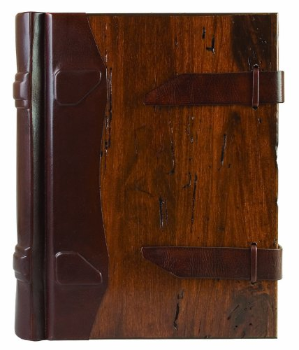 Eccolo Made in Italy Contadina Album With Wood Covers and Tooled Leather Spine With 50 Ivory Pages, 9 x 12-Inch by Eccolo