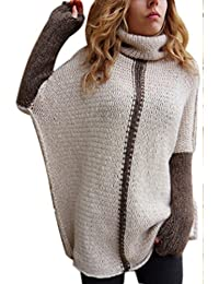 Zilcremo Women Winter Knit Pullover Sweater Elegant High Neck Cardigan Top