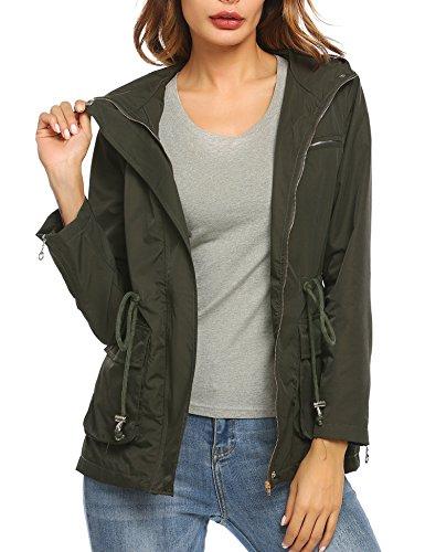 Unibelle Women's Lightweight Packable Outdoor Coat Windproof Hoodies Jacket