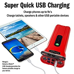 Weego Jump Starter 66 Most Powerful, Award-Winning, USA-Designed & Engineered, Lithium-ion, Jump Starts 10L Gas & 5L Diesel Engines-Charges Phones, Tablets, Laptops & 36 Hr 600 Lumen Light