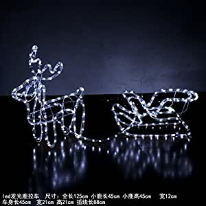 GAO Christmas Decoration String Lights The Led Lights Ornaments String Lantern Festival Lights 28Led Night Halloween New Year Carnival, 72000+Hrs Led Light-Emitting Deer Serial Pull Carts