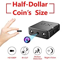 Smallest Hidden Spy Camera,ZTour 1080P Mini Portable HD Nanny Video Camera Recorder with Night Vision and Motion Detection,Tiny,Compact Covert Security Camera for Home,Office,Car Dash Inside Spying