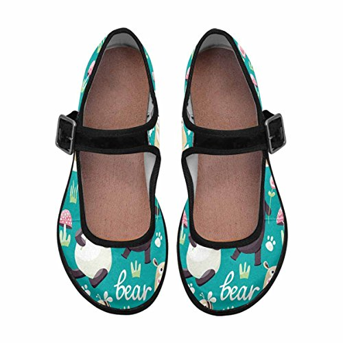 Womens Casual Multi Jane 15 Shoes Walking Comfort Mary InterestPrint Flats Pd7qwfqx