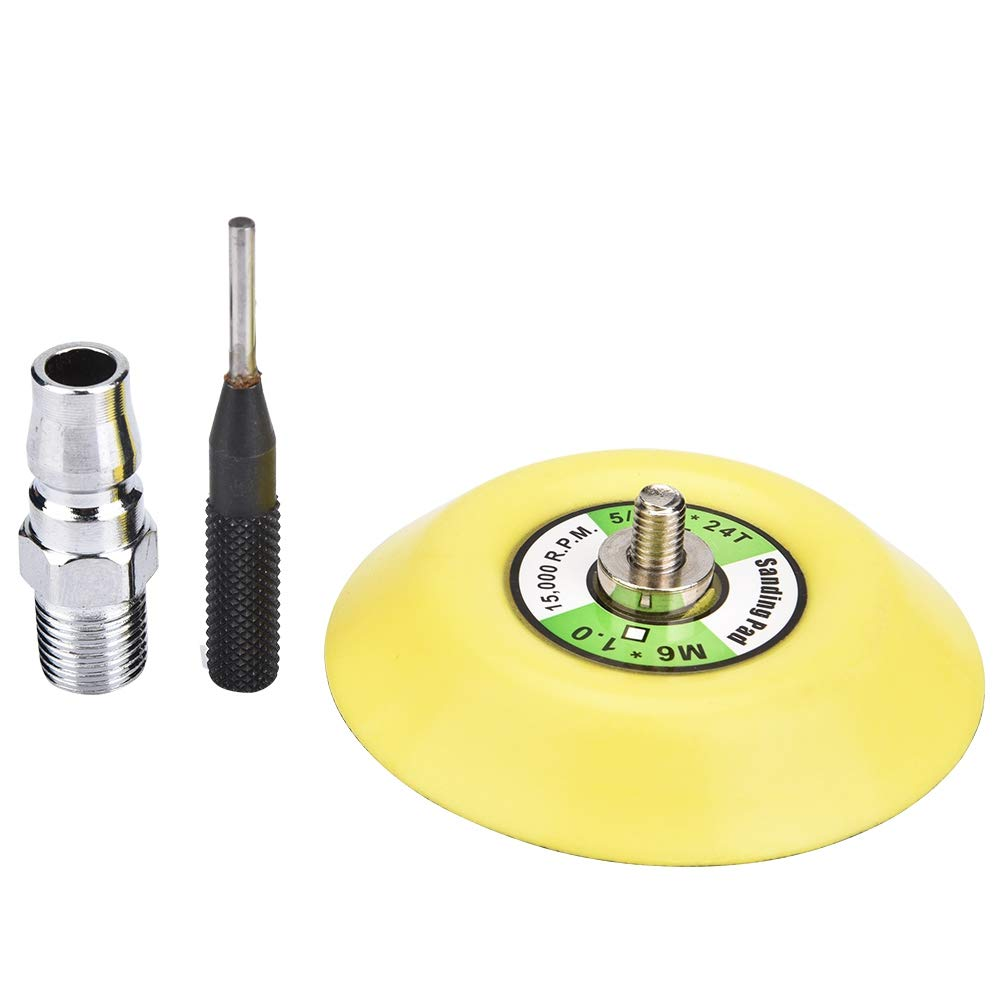 3in Sanding Pad Eccentric 1800RPM 1//4 90PSI Air Angle Grinder Pneumatic Polishing Tool with 2in//3in Sanding Pad