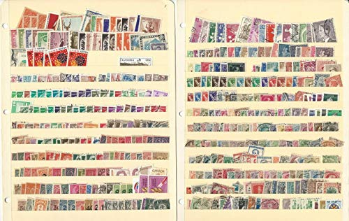 Worldwide Stamp Collection on 10 Stock Pages, Unsorted Loaded Lot (A)