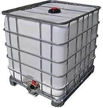 Gemeinsame Pferdetränke / Lebensmittel-IBC / Wassertonne - 1000 Liter @DB_42