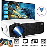 Wireless WiFi Projector, Ifmeyasi 2800Lumens Video Projector, Full HD 1080p Mini Movie Projector for Home Outdoors, USB Directly Connect for Smartphones, Support HDMI/VGA/TF/AV/USB/Audio Interfaces: more info