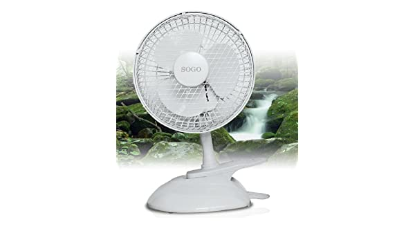 Sogo 8425490017376 - Ventilador de mesa y con clip de 15cm sgven ...