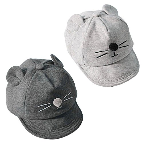 Baby Baseball Cap Flat-brimmed Sun Hat Gray