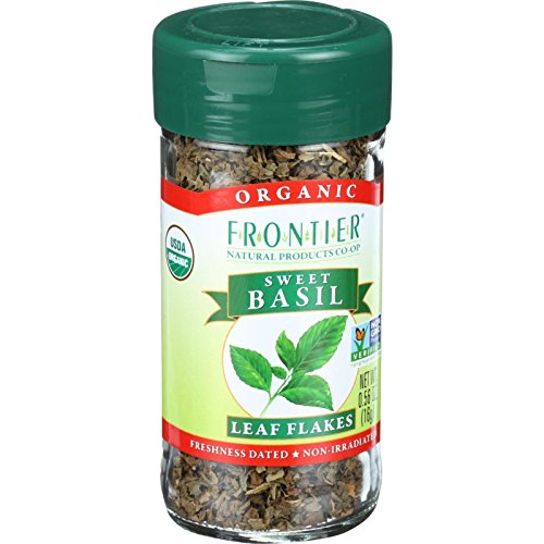Flakes Garlic Frontier (Frontier Organic Sweet Basil Spice - Leaf Flakes - 0.56 Ounces)