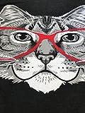 Red Linda Glasses Cat   Sassy Funny Kitty Belcher