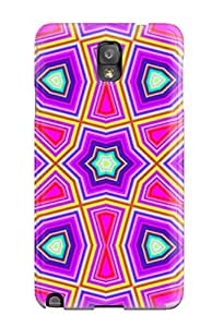 SOwrlwI54cVNWX Tpu Phone Case With Fashionable Look For Galaxy Note 3 - Artistic Abstract Art Pink Sending Screen Protector in Free