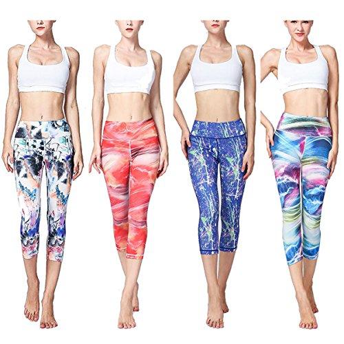 De Eamiya Rojo Para Pantalones Mujeres Cortos Yoga awRqUw6z